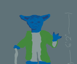 Yoda But Blue And Tall