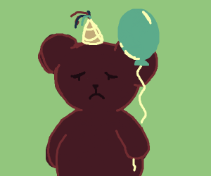 Cub is sad because nobody showed to his party