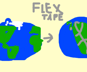 make the world into pangea with tape