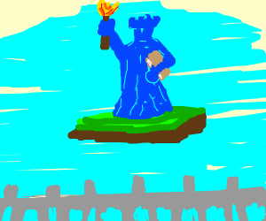 statue of liberty made of ice