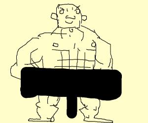 naked man (censored)