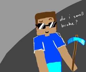 Minecraft steve digs radass