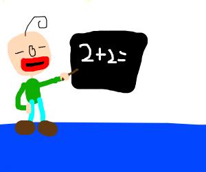 Baldi teaches maths