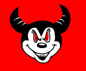 Mickey Mouse and Satan hybrid