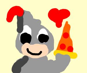 Knight who likes pizza