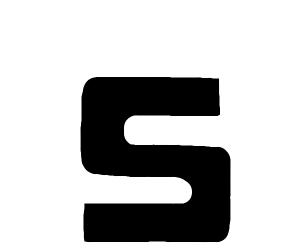 Detailed letter 'S'