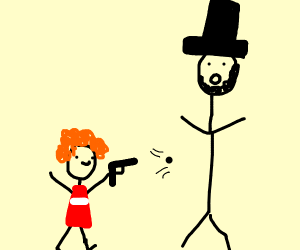 Little Orphan Annie Shoots Abe Lincoln