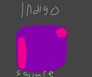 Indigo Square Drawing