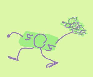 money running away with money