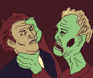 Zombie choking someone out