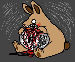 Wild Rabbit Gut-Eating Full Moon