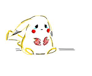 somebody broke pikachu's heart