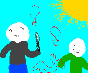 ambiguous children's drawings