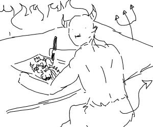 satan has drawn NSFW anime artwork
