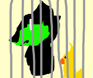A duck in jail