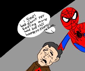 Superhero feels bad about not having feelings