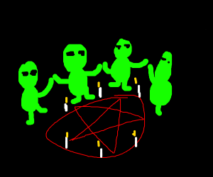 Aliens want to complete the ritual