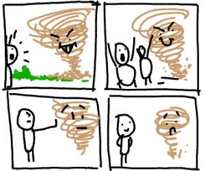 Accepting tornado