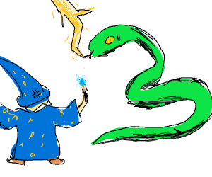 Wizard shocking snake