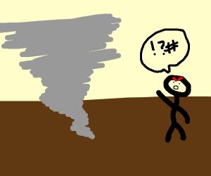 Man insults tornado