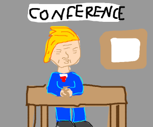 donald trump speaking at a conference