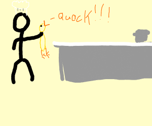 chef captures a duck