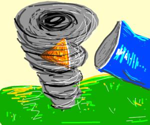 A doritos in a tornado