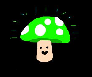 Glowing mushroom is a happ boi :D