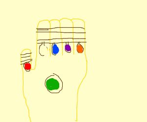 """Infinity Gauntlet without the """"Power Gem"""""""