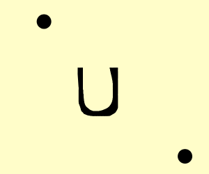2 dots and a u in the middle