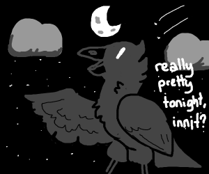 A crow talks about the sky