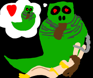Jabba the hut is green and loves himself