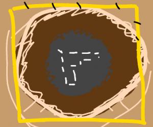 Gun Fossil in the ground
