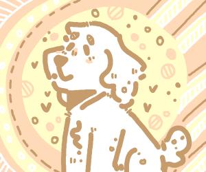 White doggo