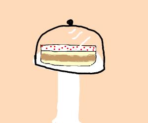 slice of cake on saucer