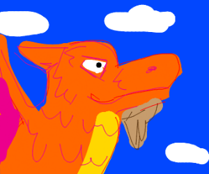 dragon with a hipster beard