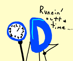 running out of time on a drawception drawing
