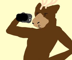 Elk taking a selfie