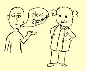 saitama ask scientist about the new specimen