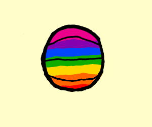 rainbow basket ball