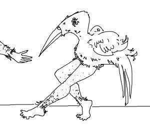 birb has hunan legs