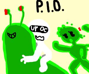Guy escapes green girl on an evil slug