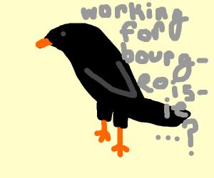 Smash birb working for bourgeoisie
