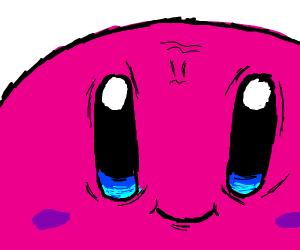 a creepy/funny  kirby drawing