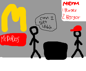 Customer at McDodos'