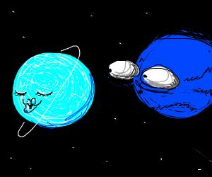 neptune sees uranus