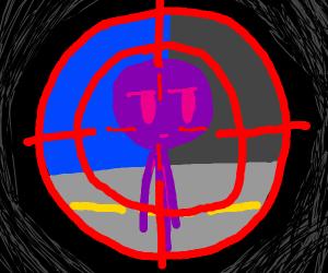 Target down the purple stickman!