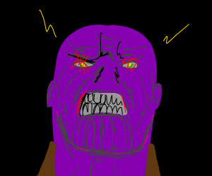 thanos is angry