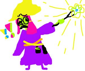 wizard is afraid of magic