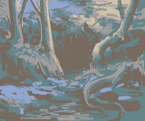 A dark cavern